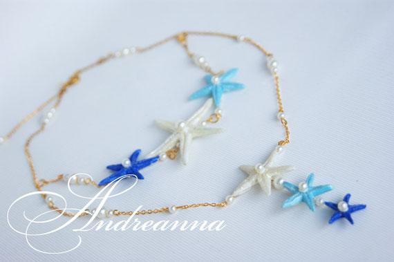 """Подвеска и браслет """"Тропический остров"""", стоимость подвески 450 грн, стоимость брааслета 450 грн (выполняется в любом цвете) звезды ручной работы."""