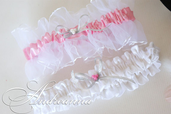 """Подвязка """"Невесомость"""", с розовой лентой, стоимость 250 грн"""