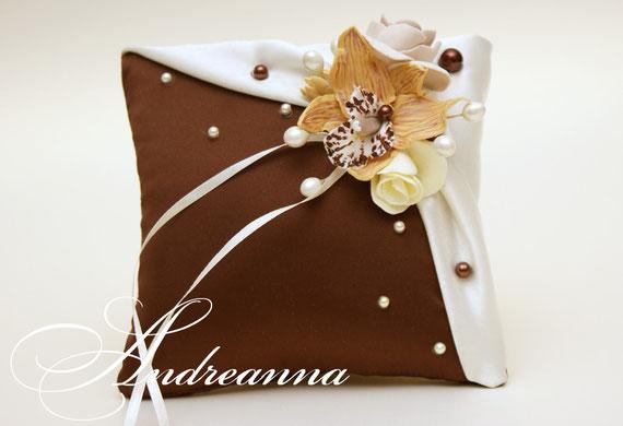 Подушечка для колец «Горячий шоколад» стоимость 400грн.
