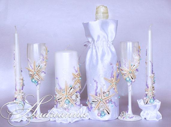 Чехол для шампанского «Сокровища морей» стоимость 550грн, в любом цветовом решение