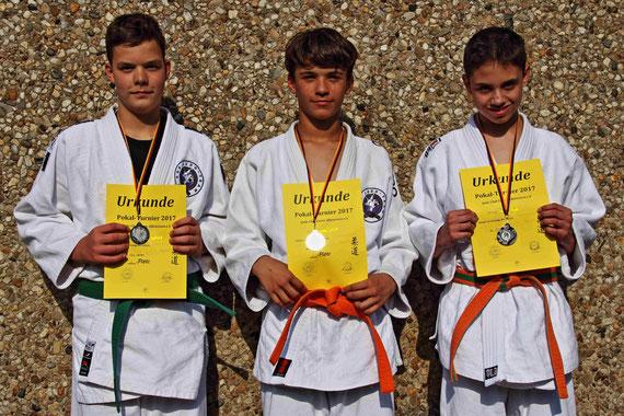 Jonas 2. Platz / Felix 1. Platz / Mirco 2. Platz