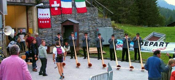 les joueurs de cor des alpes à CHAMPEX
