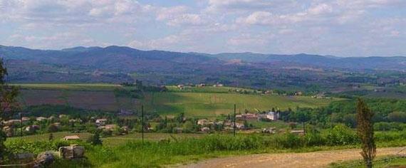 Pommiers - vue sur le Beaujolais - OT Pommiers