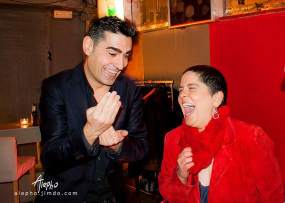 Cris Calvante con Ma Eugenia Casanova López