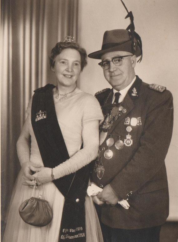 Königspaar  Paul Lutter und Friedel Ebers 1939-1958