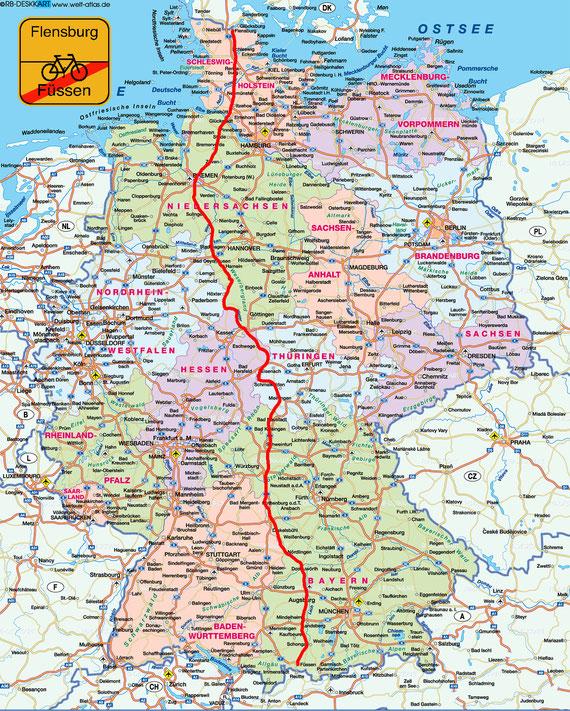 Von Füssen nach Flensburg - Der DEUTSCHLANDWEG