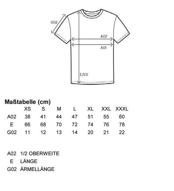 Größentabelle Women´s Fashion Organic-T
