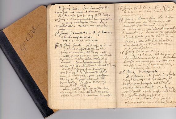 Les carnets de M. Challe (Archives Chabot-Péron)