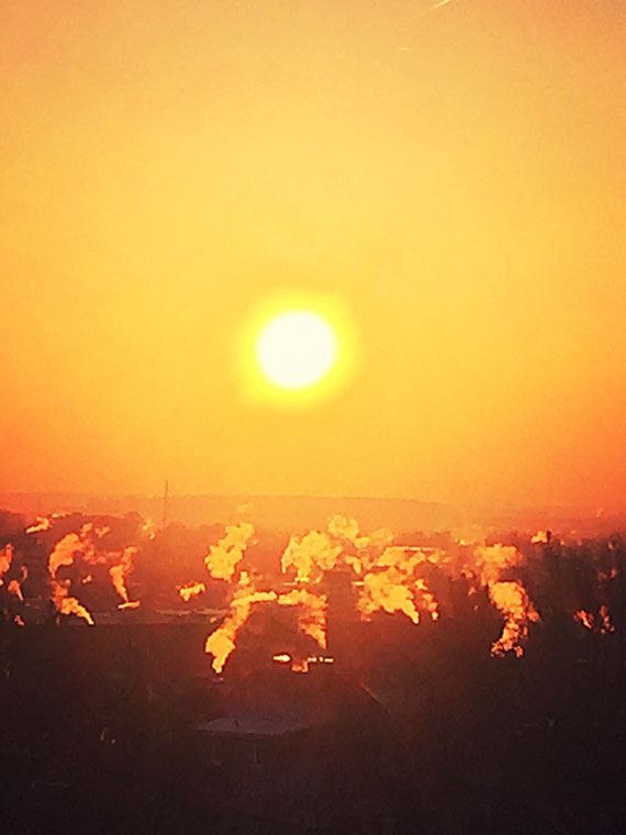 5.12.2016 - Sonnenaufgang über Bad Nauheim
