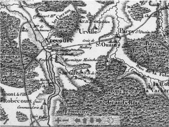 carte de Cassini (1756-1815)