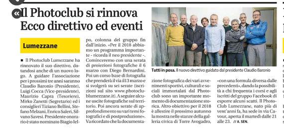 Giornale di Brescia 02/02/2018