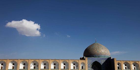 Die Kuppel der Lotf Allah Moschee auf dem Imam Platz.