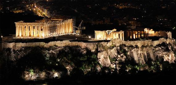 Der Parthenon auf der Akropolis ist der Tempel der Stadtgöttin Athene.