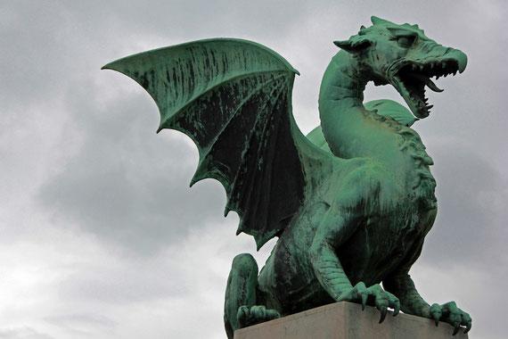 Der Drache, das Wahrzeichen der Hauptstadt Sloweniens