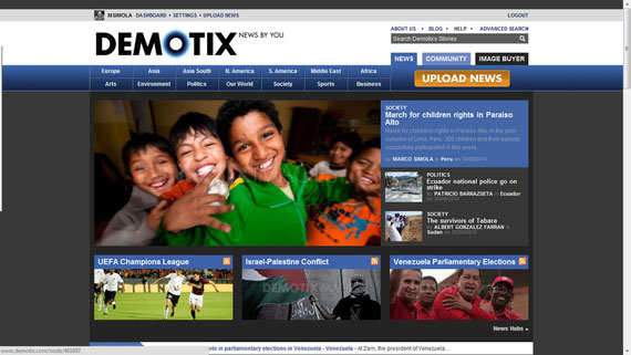 01/10/2010 Front page of Demotix.com