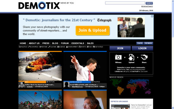19/02/2010 Front page of demotix.com