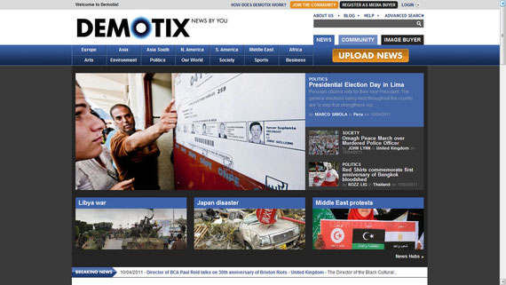 19/04/2011 Front page of Demotix.com
