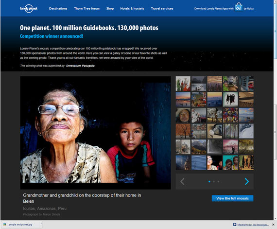 One Planet. Lonely Planet's mosaic competition. Selected as one of the 200 finalist among over 130.000 photos.