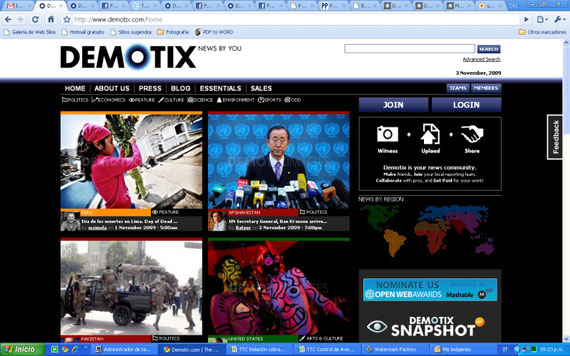 02/11/2009 Front Page of Demotix.com