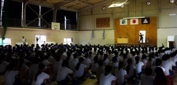 文化芸術講座 江南中学校 2012
