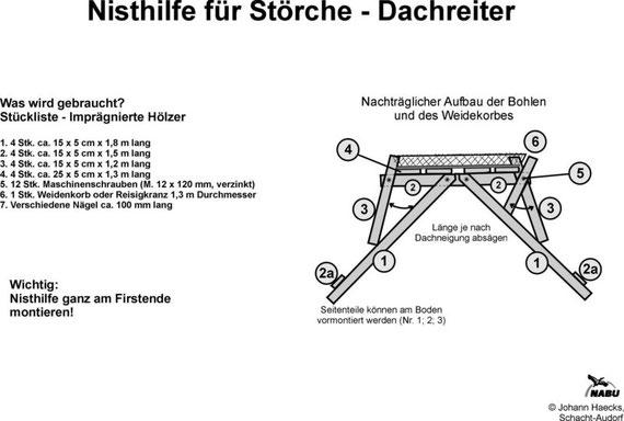 Konstruktionszeichnung: Johann Haecks, Schacht-Audorf