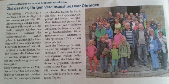 Neckarsulmer Woche, 13. Oktober 2016