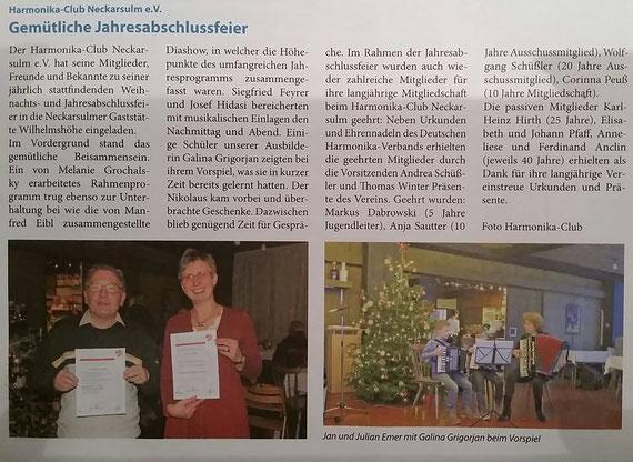 Neckarsulmer Woche, 14. Dezember 2017