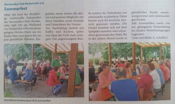 Neckarsulmer Woche, 16. August 2017