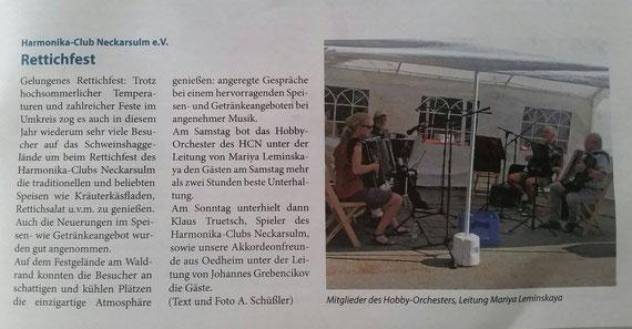 Neckarsulmer Woche, 09. Juni 2017