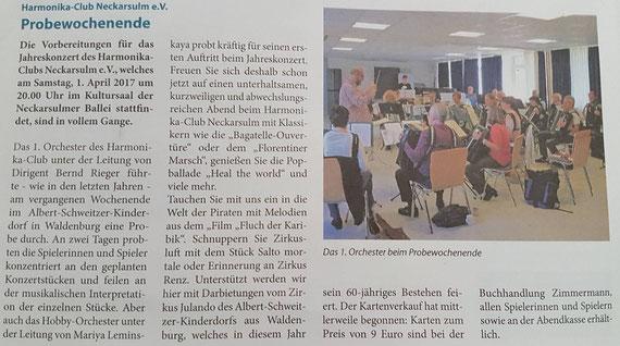 Neckarsulmer Woche, 17. März 2017