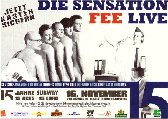 Postkarte / Werbekarte für eine Show in Braunschweig- 2003