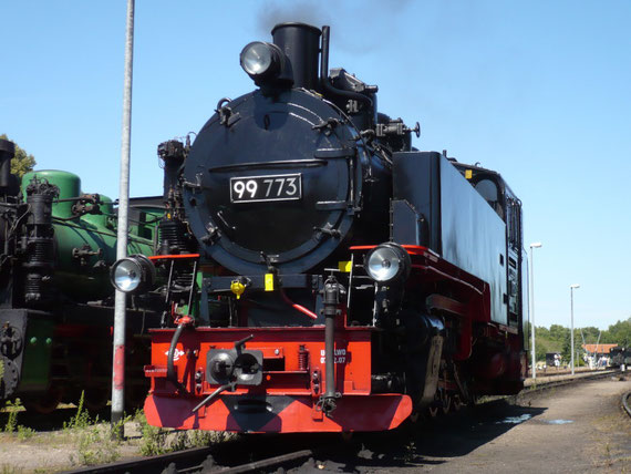 99 773 in Putbus (31.07.2008) © Maurice Ansorge