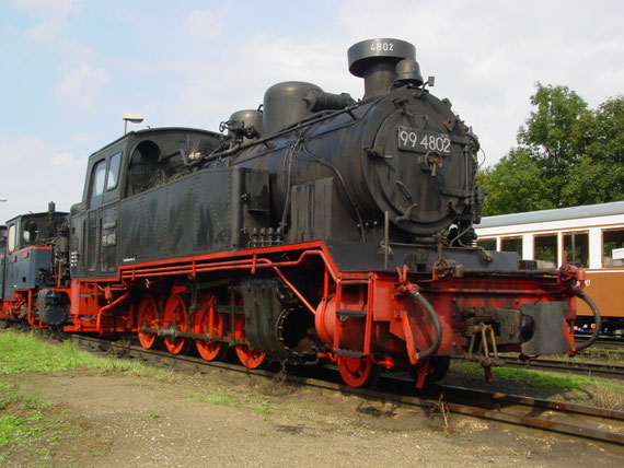 99 4802 abgestellt in Putbus © Maurice Ansorge
