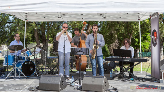Lionel Ducasse, Jérôme Dubois, Jérôme Armandie, Paul Robert, Nicolas Lancia, Lionel Ducasse; On Lee Way, Festival JAZZ360, Quinsac. 11/06/2017