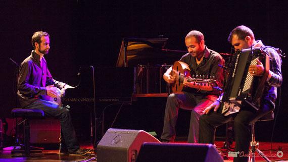 "Elie Dufour, Mohamed Abozekry, Marian Badoï; EYM Trio ""Khamsin"", Festival JAZZ360, Cénac. 09/06/2017"