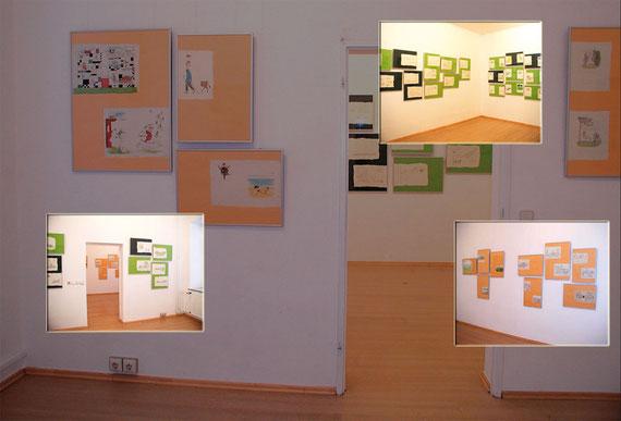 Ausstellungsansicht - LesArt 2002