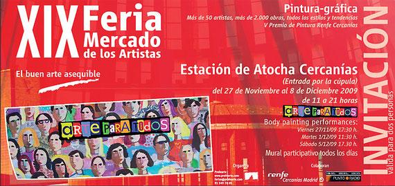 29. Künstlermesse Madrid - Einladungskarte