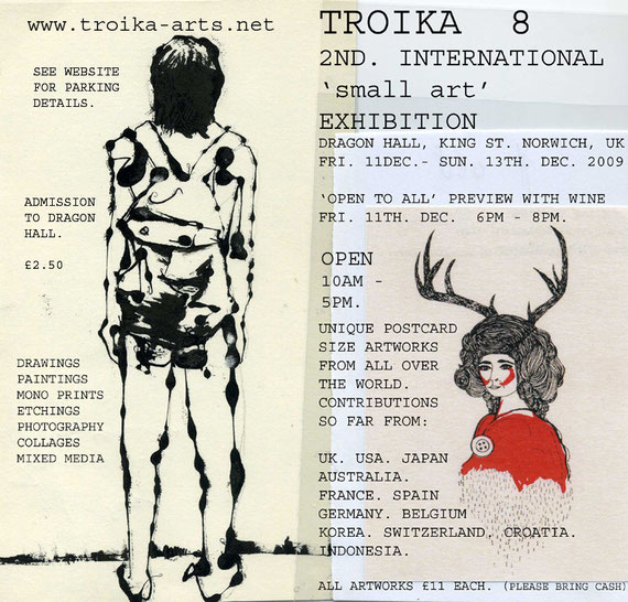 Troika 8 - 2nd Small Art - Einladung