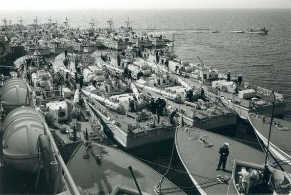 S-Boote und Tender 1964 vor Skagen - Foto: ARchiv Lürssen