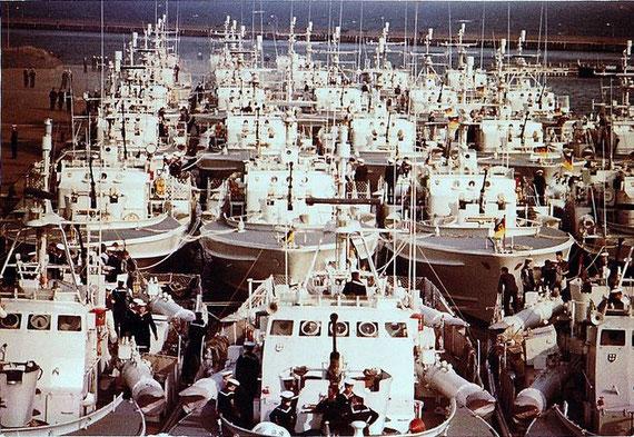 Deutsche Schnellboote 1970 während der Typ-Kommando-Übung in Frederikshavn - Foto: Wulf Hornung