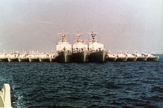Schnellboote und Tender 1969 während der Typ-Kommando-Übung vor Hirtshals - Foto: Archiv Förderverein