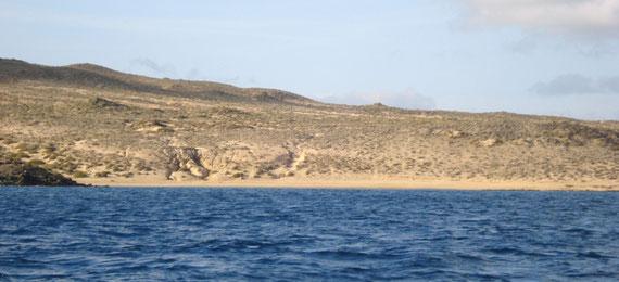 Vista de Playa francesa desde el mar