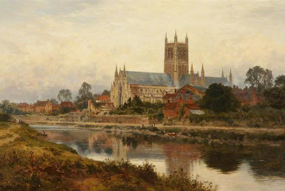 Worcester Cathedral (1897), de B. W. Leader.