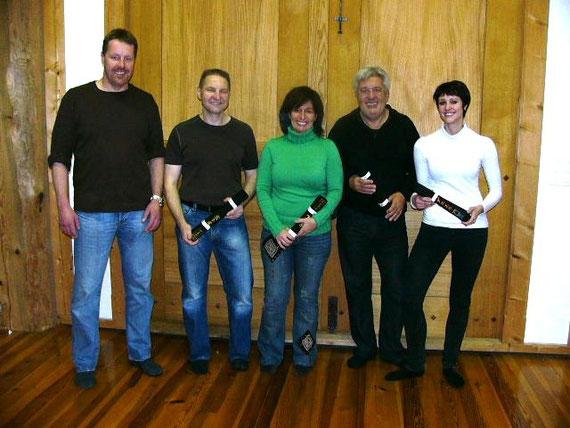 Von links: Daniel Kämpfer, Hans Jürg Schmid, Antonia Cano, Claudio Ciabuschi und Daniela Seitz