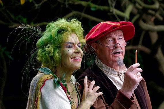 mit Hans-Peter Lehmann als Shakespeare, Foto: Jörg Hornbostel