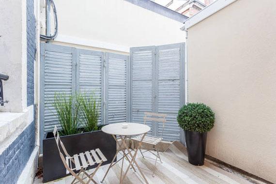 Terrasse privée aménagée