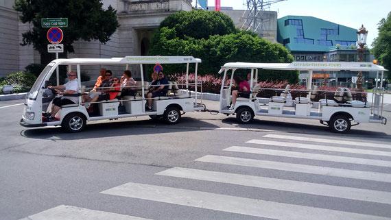Graz Elektro shuttle bus bummelzug