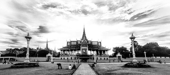 The Royal Palace of Cambodia in  Phnom Penh