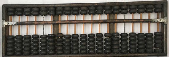 "Ábaco chino ""son pan"", 19 columnas, 53x18 cm"