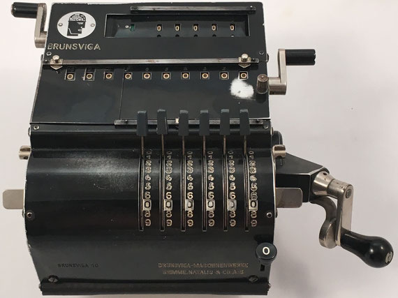 BRUNSVUGA 10, Brunsviga-Maschinewerke, Grimme, Natalis & Co, A-G, s/n 153349, capacidad 6x5x10, año 1932, 23x18x8 cm